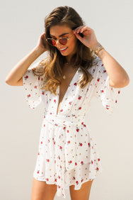 THE LITTLE RED ROSE PLAYSUIT - You.