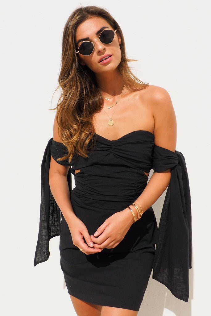 THE WILD AT HEART MINI DRESS - BLACK - You.