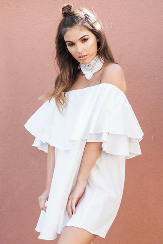 The Off the Shoulder Ruffle Dress