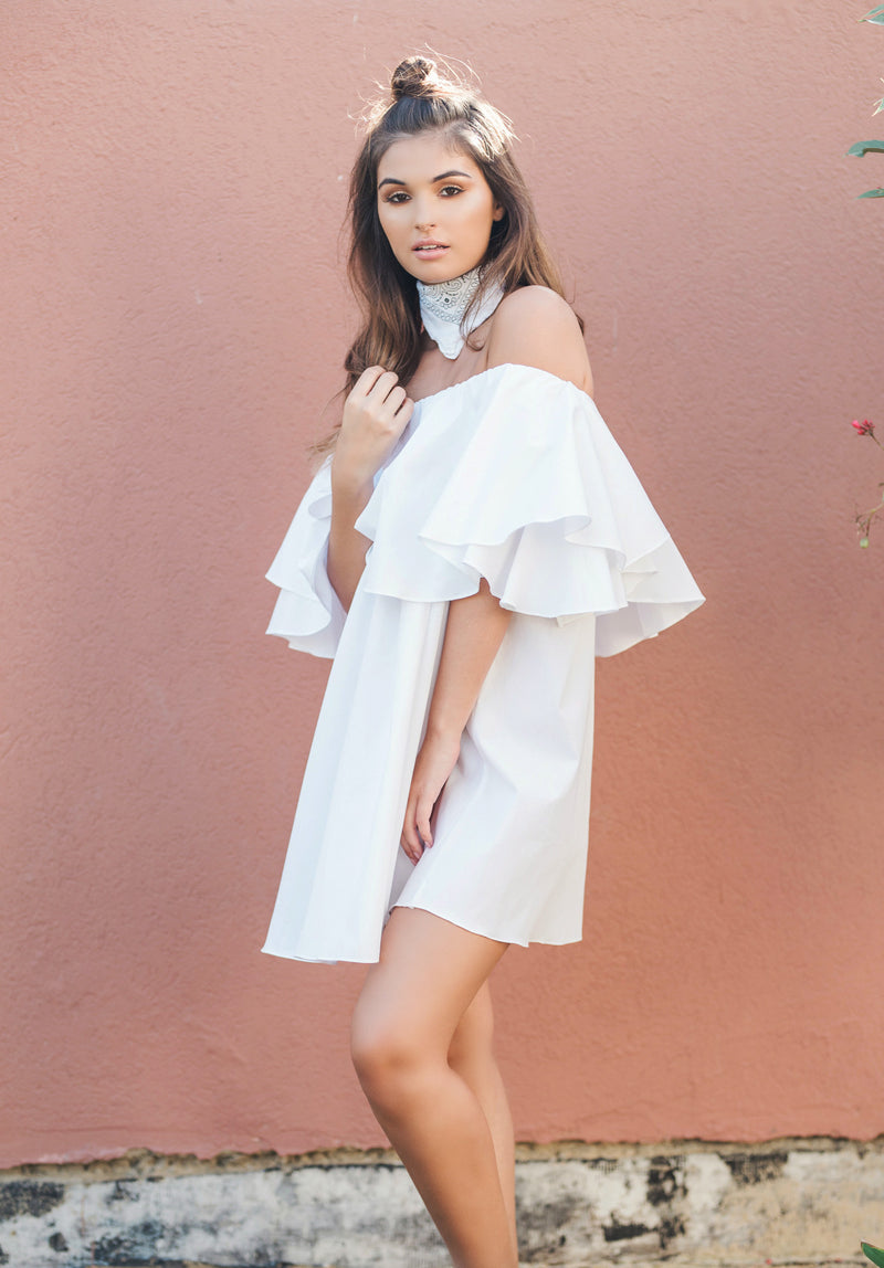 The Off the Shoulder Ruffle Dress - You.