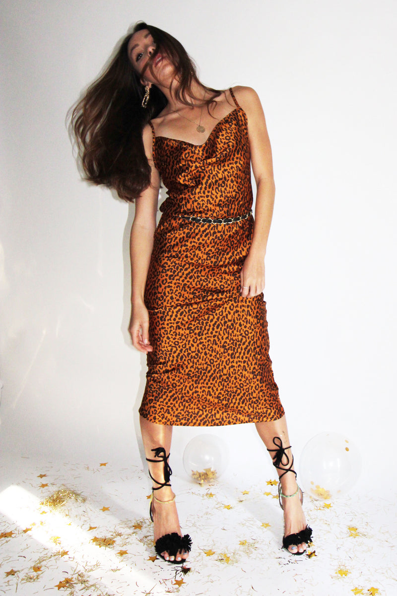 THE COOL-GIRL LEOPARD SLIP DRESS - You.