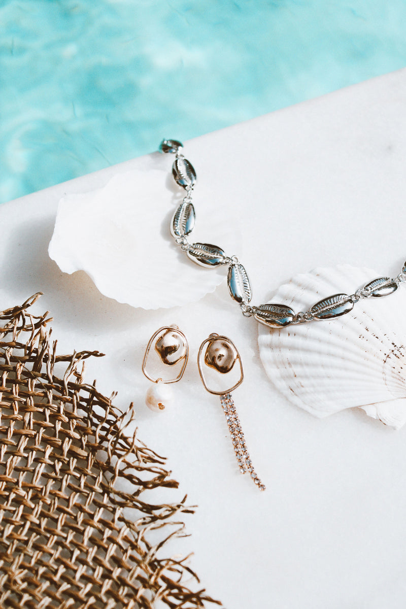 THE BOHO BEAUTY SILVER SHELL CHOKER - You.
