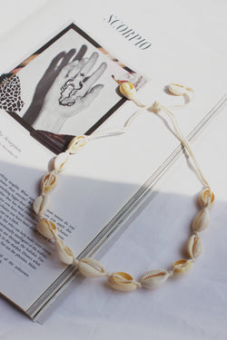 THE BOHO BEAUTY WHITE SHELL CHOKER - You.