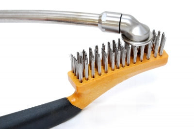 Stainless steel brush with holder