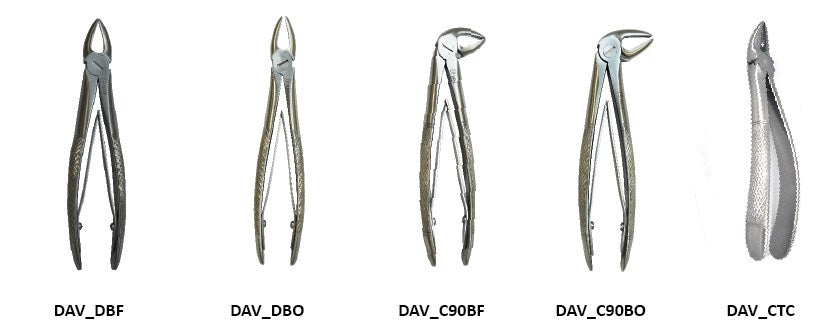 Forceps 90° closed 17 cm
