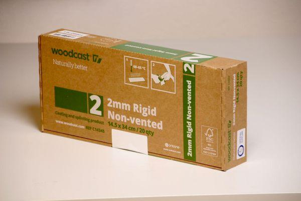 Woodcast 2mm non vented, 14.5cm x 34cm, punainen