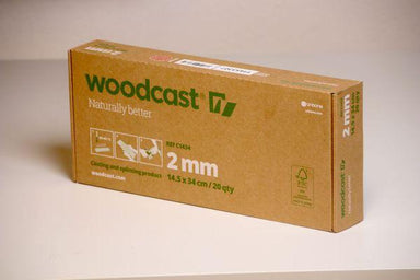 Woodcast 2mm, 14.5cm x 34 cm, musta