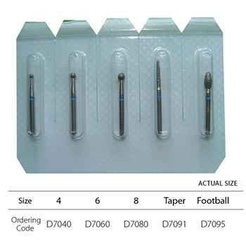 Assorted Diamond Bur Set FG - 5pc