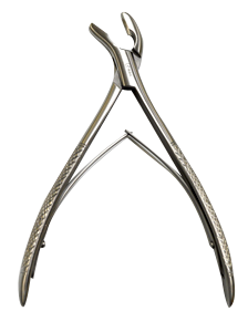 Gouge-forceps 45° WITH SPRING