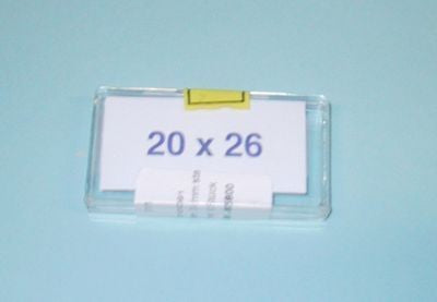 Cover glasses for counting piece 0.4mm, 20x26mm,10 kpl
