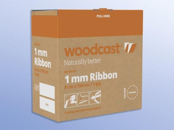 Woodcast 1mm Ribbon, 8cm x 7.5m, 1pcs