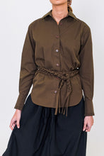 Load image into Gallery viewer, BLANCHE COTTON KHAKI SHIRT