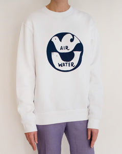 AIR WATER SWEATSHIRT - WHITE