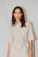 Load image into Gallery viewer, ELENA LINEN RAMIE SHIRT JACKET