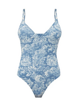 Load image into Gallery viewer, JOAN JUNGLE PRINT V-NECK SWIMSUIT