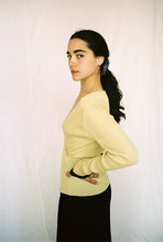 Load image into Gallery viewer, CALLA CROSSOVER RIBBED MERINO SWEATER