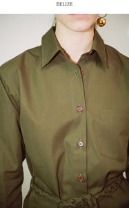 BLANCHE COTTON KHAKI SHIRT