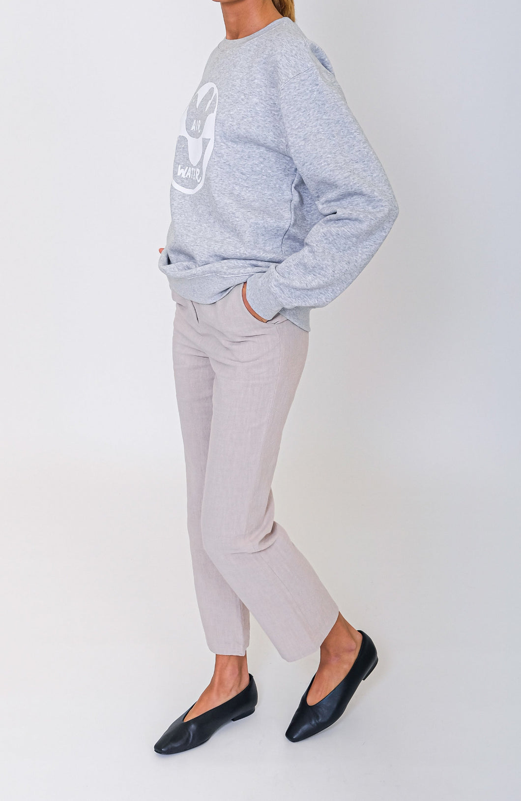 AIR WATER SWEATSHIRT - GREY MARL