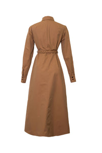 ASIA CAMEL BELTED DRESS