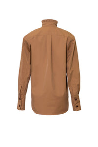 DELILAH COTTON CAMEL SHIRT