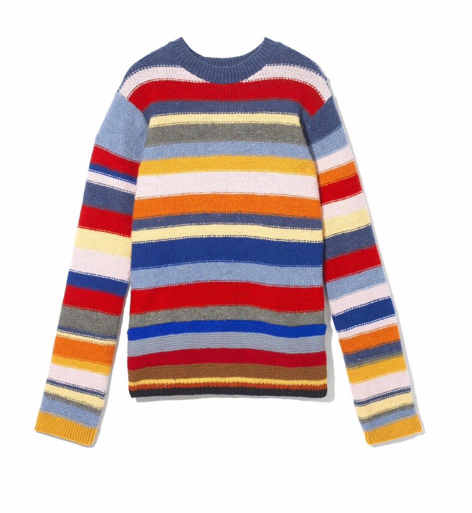 Grace Hand Knit Crew Neck - Multi Coloured - BACK IN STOCK