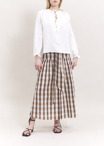 VANESSA BUTTON BELT SKIRT