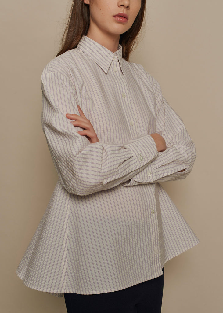 Douglas Pinstripe Cotton Shirt