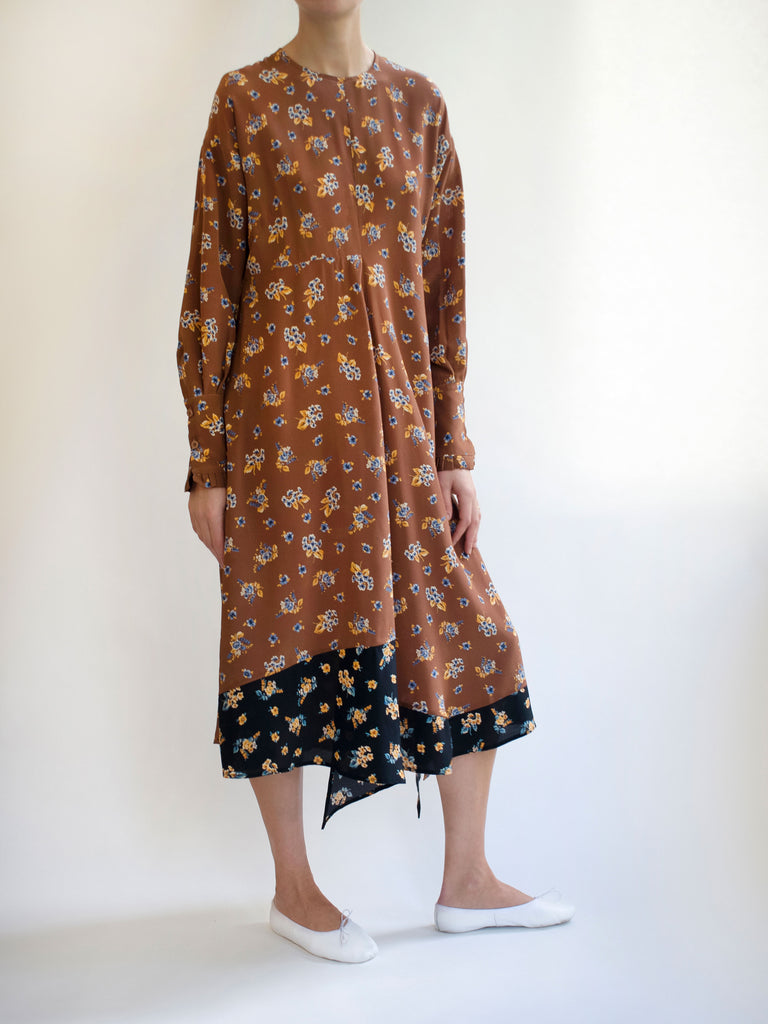 CLARA SILK PRINTED DRESS
