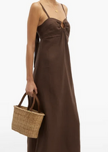 Load image into Gallery viewer, HIVA STRAP LINEN DRESS