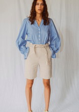 Load image into Gallery viewer, GEORGIO LINEN RAMIE BELTED SHORTS