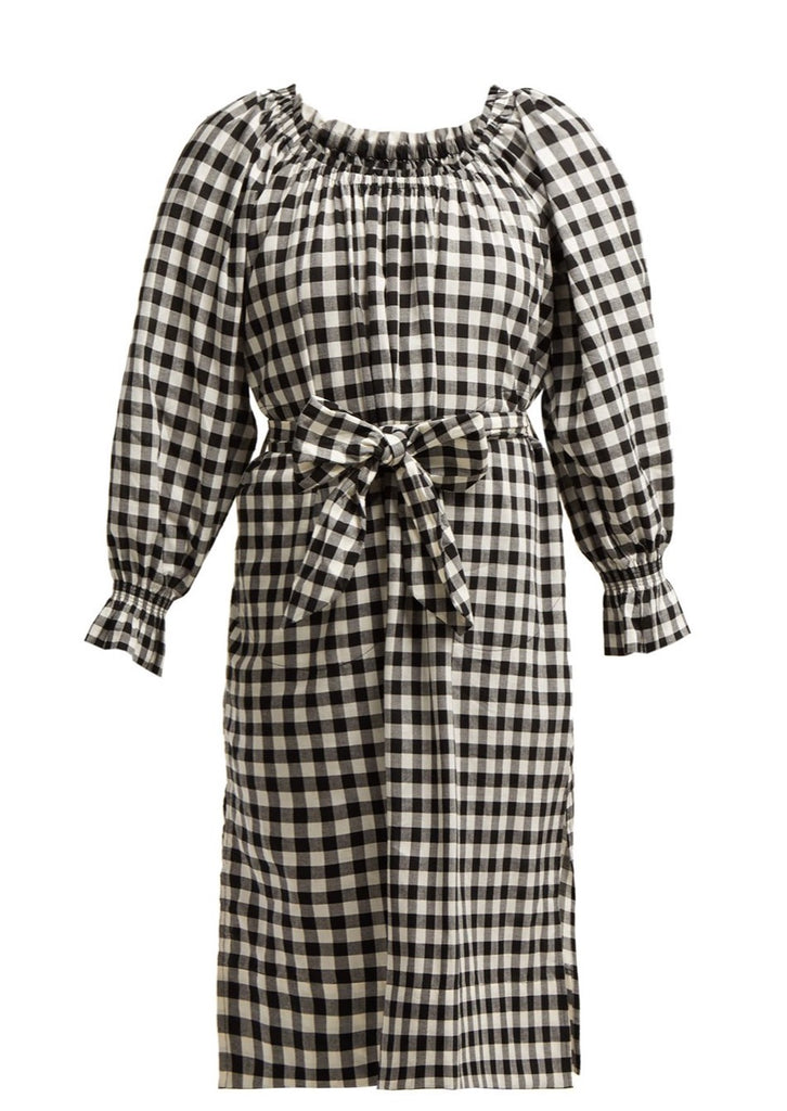 Maryam Check Tie Dress
