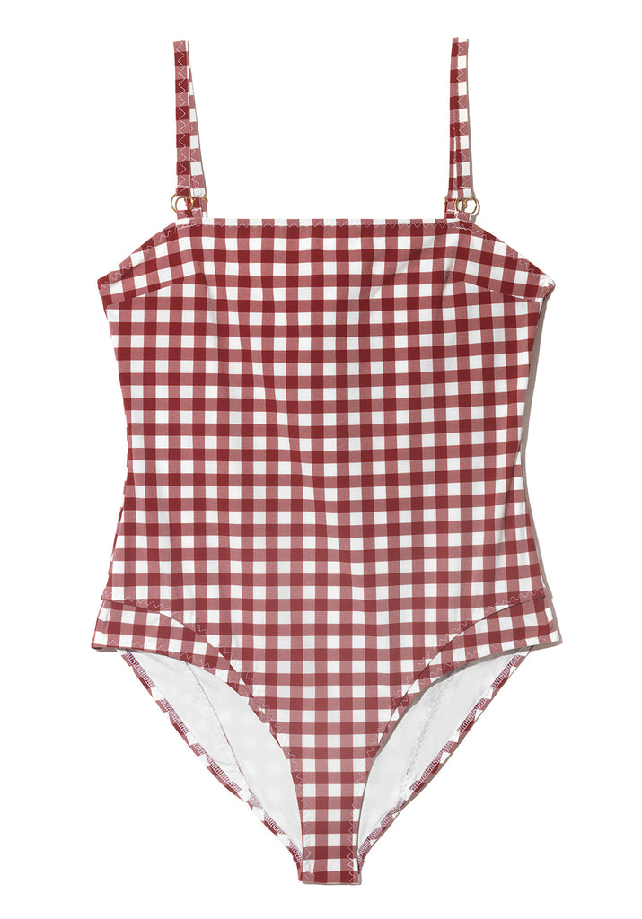 Luca Tablecloth Check Swimsuit