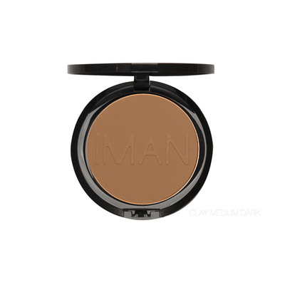 IMAN Cosmetics Poudre Compacte Clay Medium Dark