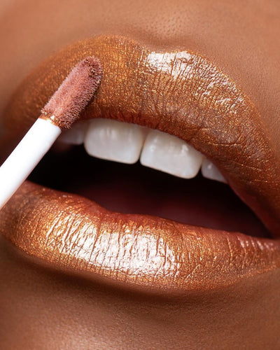 Gloss lip shimmer marron doré - IMAN