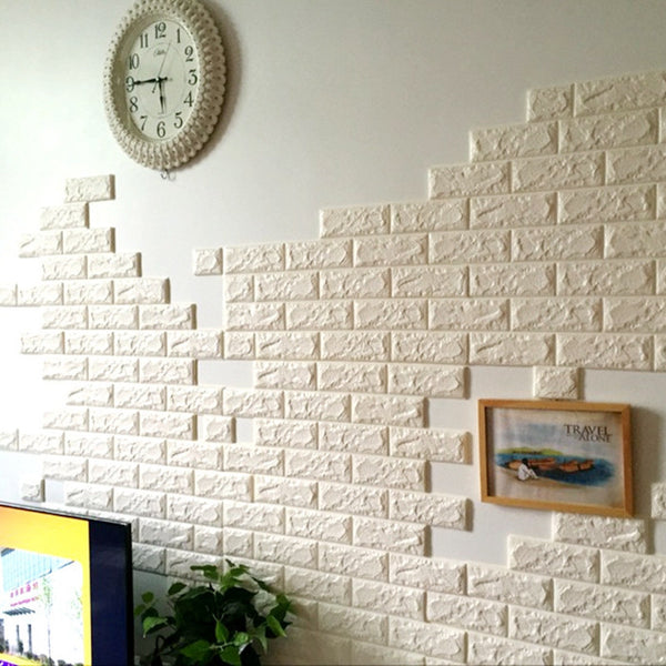 3D Self-Adhesive Brick Tile Wall Stickers Shop Colossal Deals