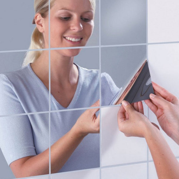 3d Self Adhesive Mirror Wall Sticker Shop Colossal Deals