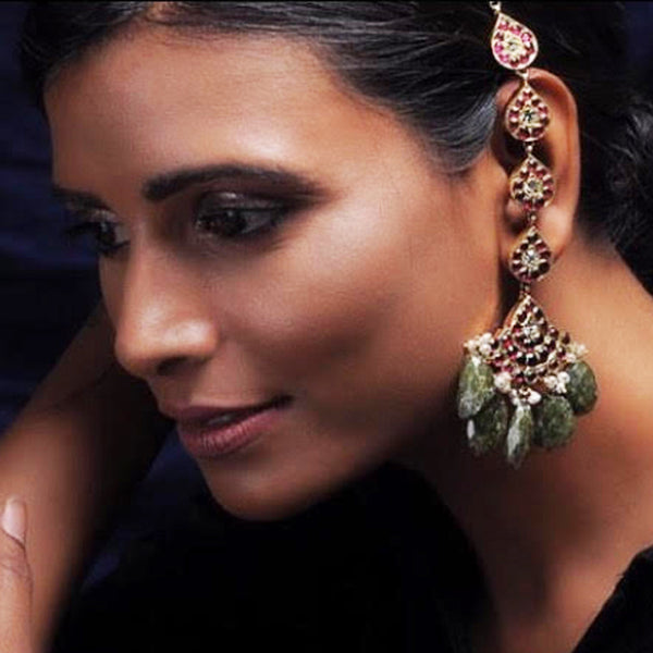 Estalon Earrings [silver jewellery] [temple jewellery] - Aaharya