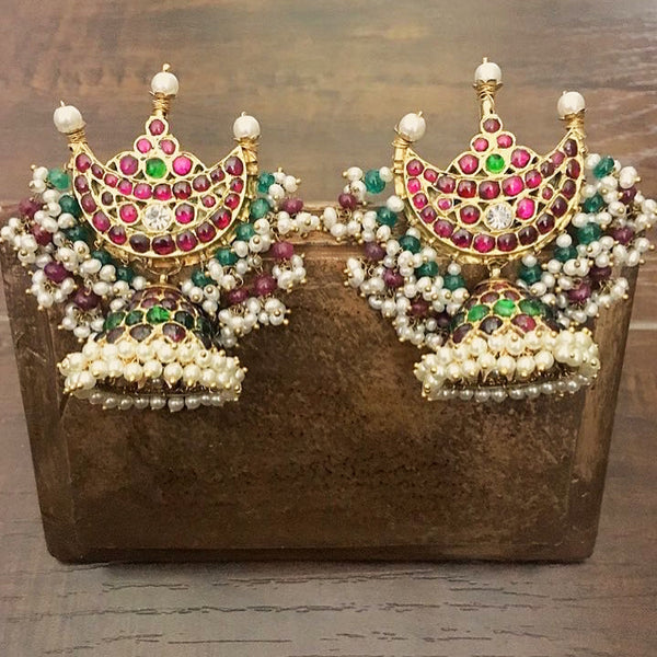 Chandrabali Earrings [silver jewellery] [temple jewellery] - Aaharya