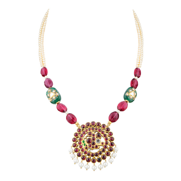 Peacock Motif Necklace | Temple Jewellery