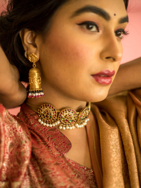 Sparza Earrings [silver jewellery] [temple jewellery] - Aaharya