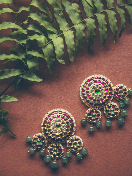 Abharika Statement Studs | Temple Jewellery