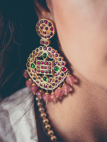 Adah Earrings [silver jewellery] [temple jewellery] - Aaharya