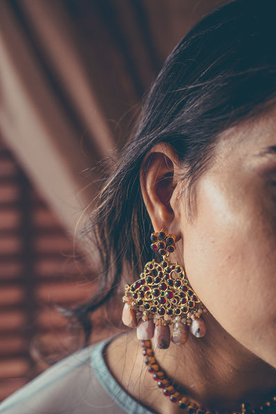 Arata Earrings [silver jewellery] [temple jewellery] - Aaharya
