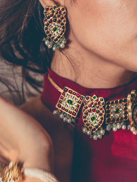 Avrohi Earrings | Temple Jewellery
