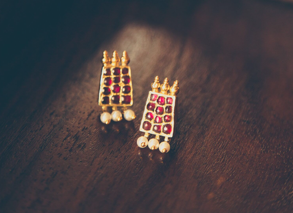 Poothali Drops | Temple Jewellery