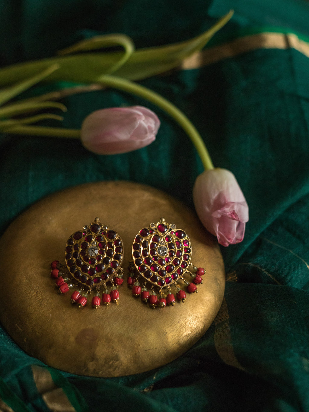 Chithira Earrings - Aaharya