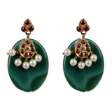 Emerald Green Temple Jewellery Earings