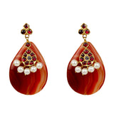 Caramel Temple Jewellery Earings