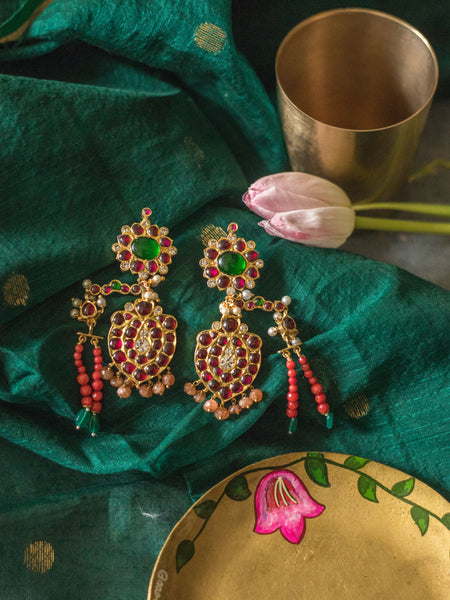 Inaxi earrings [silver jewellery] [temple jewellery] - Aaharya
