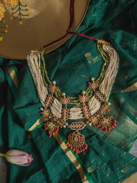 Jeevana Necklace [silver jewellery] [temple jewellery] - Aaharya